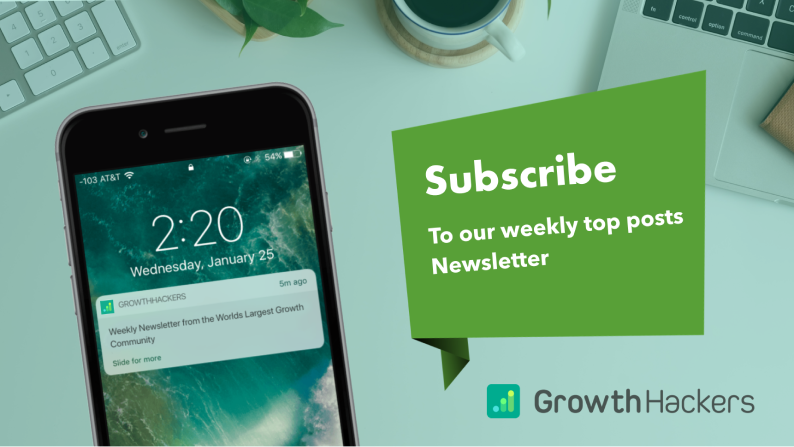 Growthhackers newsletter subscription